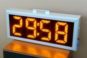 LED clock timer with battery.
