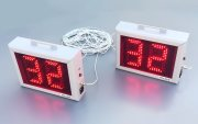Synchronized swimming pool clock - timers with LED