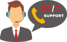 24 hours technical support