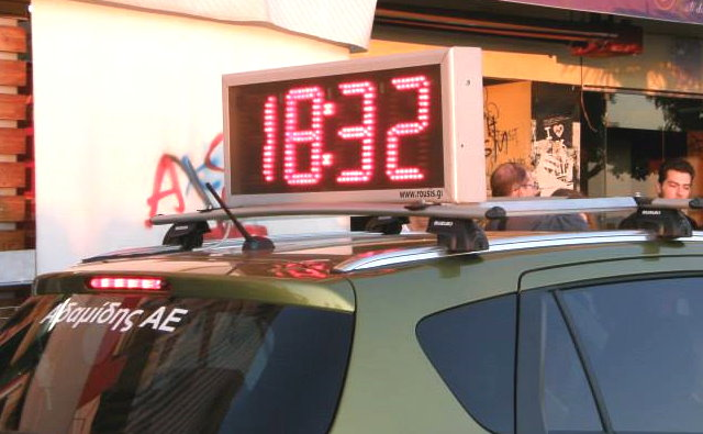 Automobile timer LED display