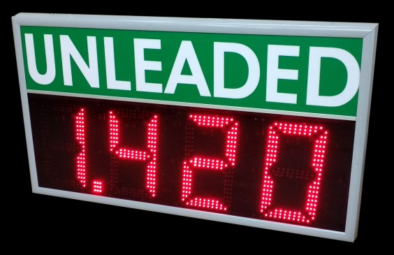 LED gas prices unleaded
