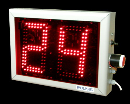 2 Digits red led timer display