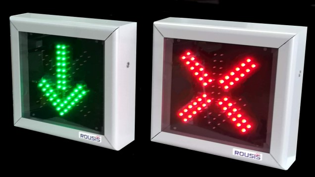 traffic lane control LED sign
