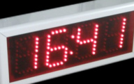 Outdoor Time - temperature LED Display, 15cm Digit Height