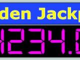 LED tabellone (display) all'aperto per jackpot da casinò.