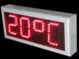 Ρολόι θερμόμετρο LED 15 cm ύψος ψηφίου