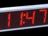 Ρολόι θερμόμετρο LED 24 cm ύψος ψηφίου