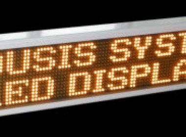 Επιγραφή LED full matrix 2 γραμμών κίτρινη