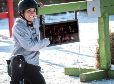 LED χρονόμετρο στο τηλεπαιχνίδι Φάρμα της βουλγαρικής τηλεόρασης