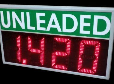 LED дисплей за визуализация цени на бензиностанции