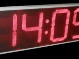 Ρολόι θερμόμετρο LED 68 cm ύψος ψηφίου