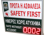 Days Without Accident Display