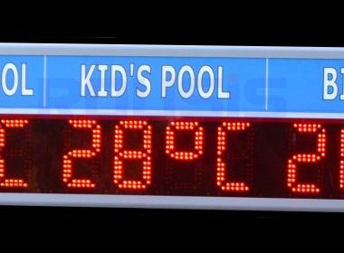 Знак за температура на плувния басейн