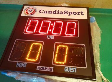 Club Candia Sport е пионер, използващ електронни табла във футболните стадиони