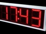 Πινακίδα Ρολόι Θερμόμετρο LED